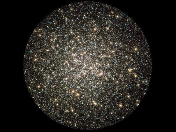 Hubble caught this glimpse of many hundreds of thousands of stars moving about in the globular cluster M13, one of the brightest and best-known globular clusters in the northern sky. This glittering metropolis of stars is easily found in the winter sky in the constellation Hercules and can even be glimpsed with the unaided eye under dark skies. M13 is home to over 100000 stars and located at a distance of 25000 light-years. These stars are packed so closely together in a ball.