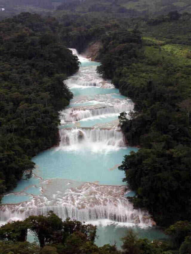 Cascadas de Agua Azul, #MahCualliOhtli desea #Quetevayabien en #Chiapas
