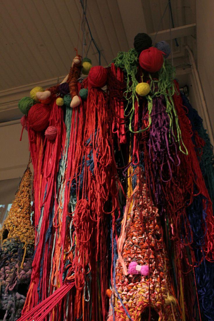 The Nests of Weaving bird (Annukka Mikkola) in a big installation at Annantalo Helsinki Finland 2014