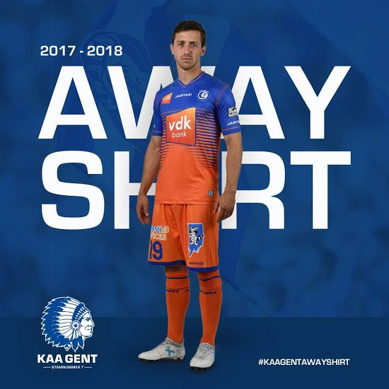 KAA Gent 17-18 Home, Away & Third Kits Revealed - Footy Headlines