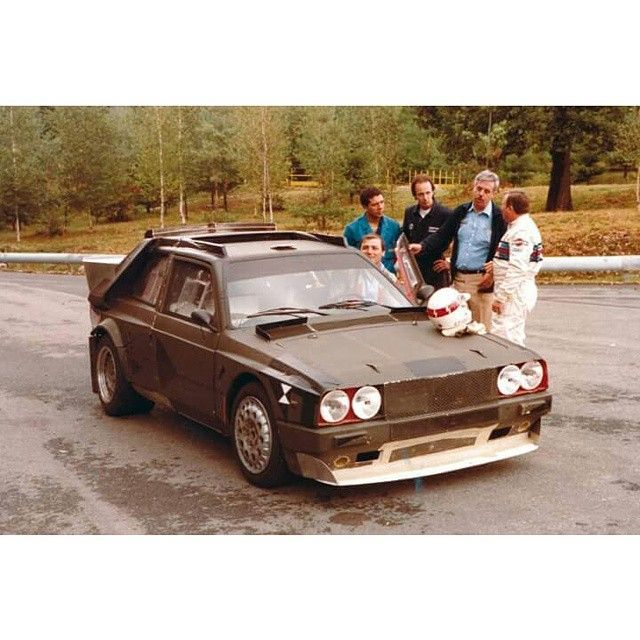 Testing the Group B prototype of Lancia Delta S4 1984.