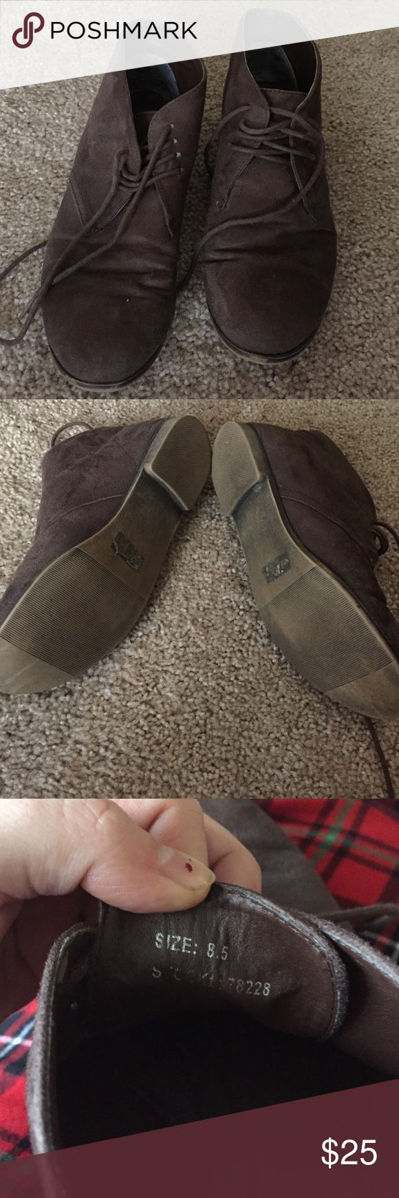 Maurice's brown chukka boots Chukka style Maurice's brown boots size 8.5 barely worn. Maurices Shoes Ankle Boots & Booties