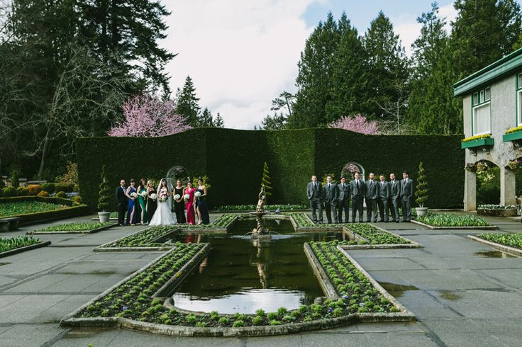 Marissa and David's Wedding at Butchart Gardens || Victoria Wedding Photographer #wedding #butchartgardens #vancouverislandwedding #gardens #gardenwedding