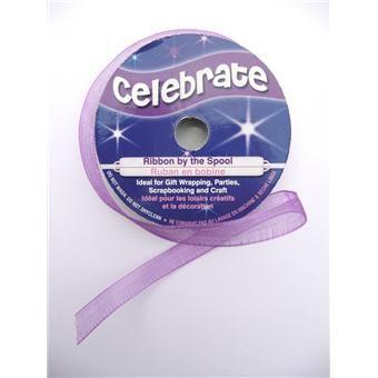 Ribbon Organdie 6 mm x 8 m Purple