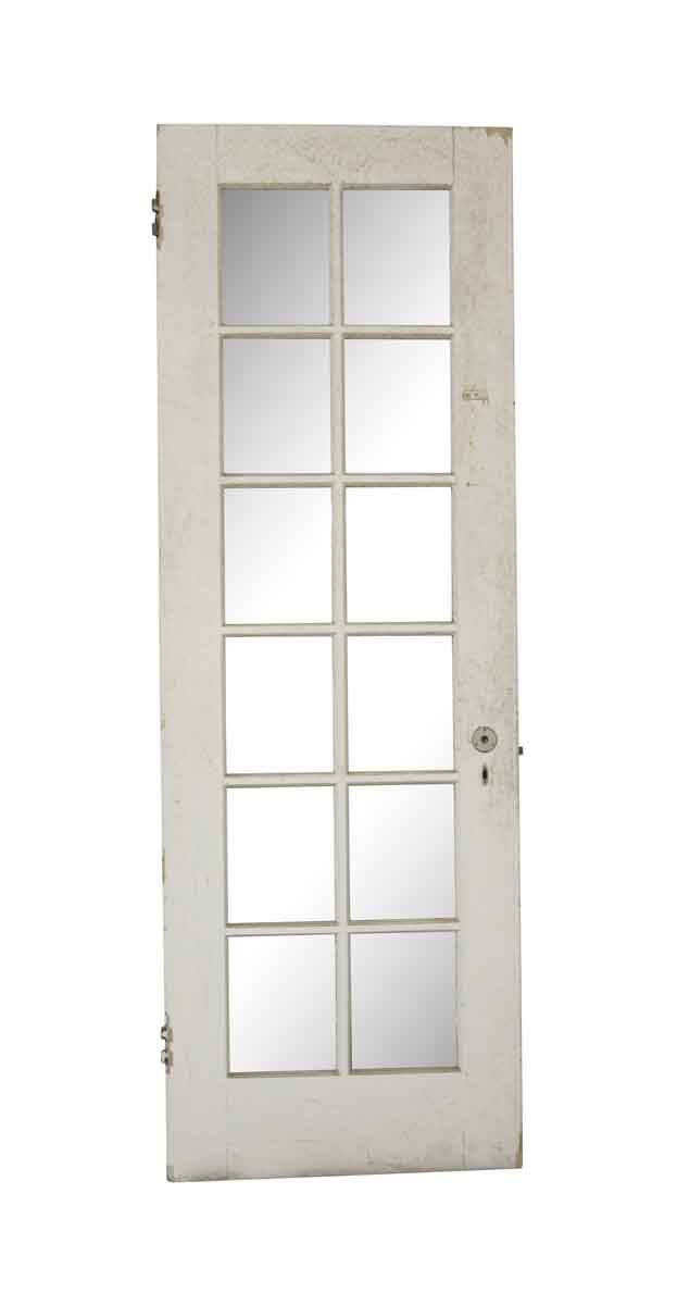 Vintage 12 Lite White Wood French Door 83 25 X 28 375 French Doors Antique French Doors Antique Doors