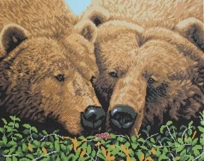 Канва с рисунком Гелиос Ф-067 Медведи