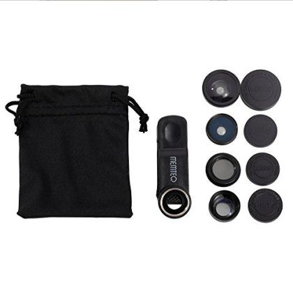 MEMTEQ® Universal 5 in 1 Cell Phone Camera Lens Kit Clip-On FishEye Lens + 2 in 1 Macro Lens + Wide Angle Lens + Teleconverter + CPL Filter Universal Clip Phone Camera Lens for Android/ iOS Smartphone, iPhone 7, 6, 6 plus, 5, 5C, 5S, 4, 4s, iPad 2, 3, 4, Air (Black) for only £1.99! That's 73% off the regular price.