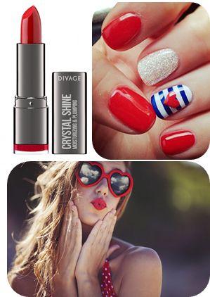 #red #summer #nails #nailart #lips #redlips #beauty #makeup