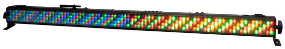 The ADJ WiFLY Bar RGBA is a rechargeable lithium battery powered compact 1-Meter (42-inch) LED Linear Fixture with ADJ's WiFLY Transceiver with wireless DMX built-in. It features 320, 10mm RGBA LEDs (64 Red, 96 Green, 96 Blue & 64 Amber) to create rich hues and smooth color mixing for stage or wall washing, plus the freedom to set up your fixture where ever you wish without the restrictions of power or DMX cabling.