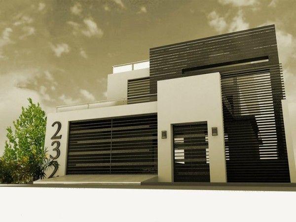 17 mejores ideas sobre fachadas de casas bonitas en for Casa moderna 9 mirote y blancana