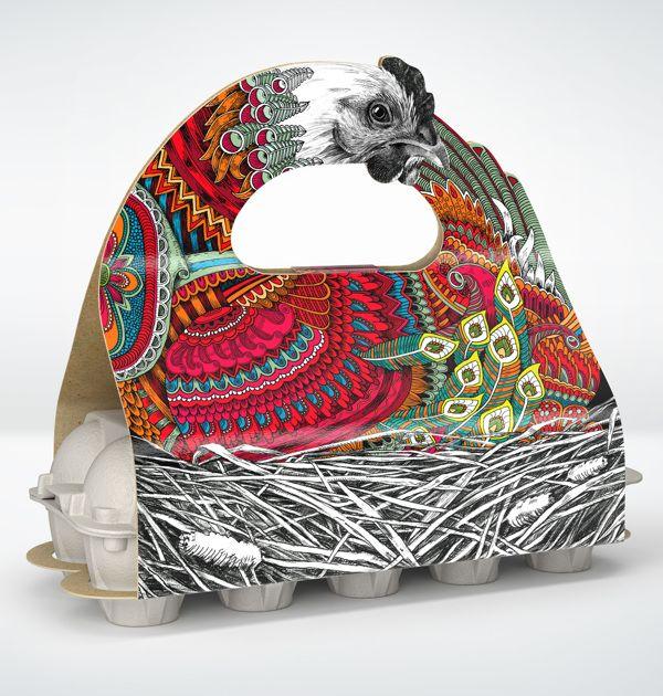 Layer Hen by Alexandra Istratova, via Behance