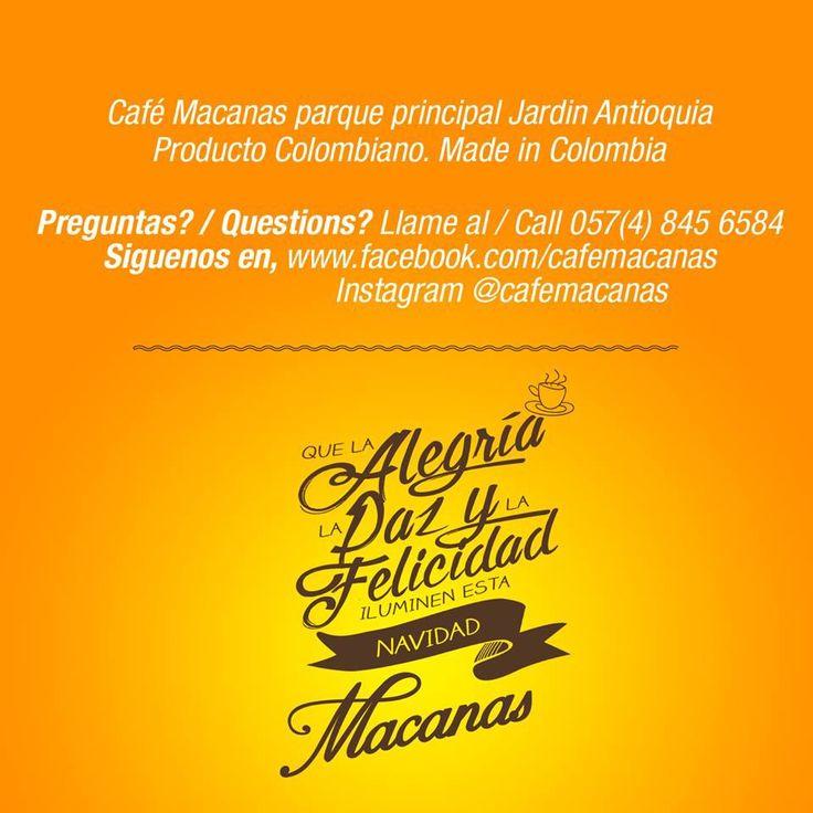 Redes contacto información @cafemacanas
