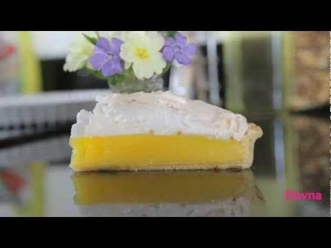 лимонный торт с заварным кремом