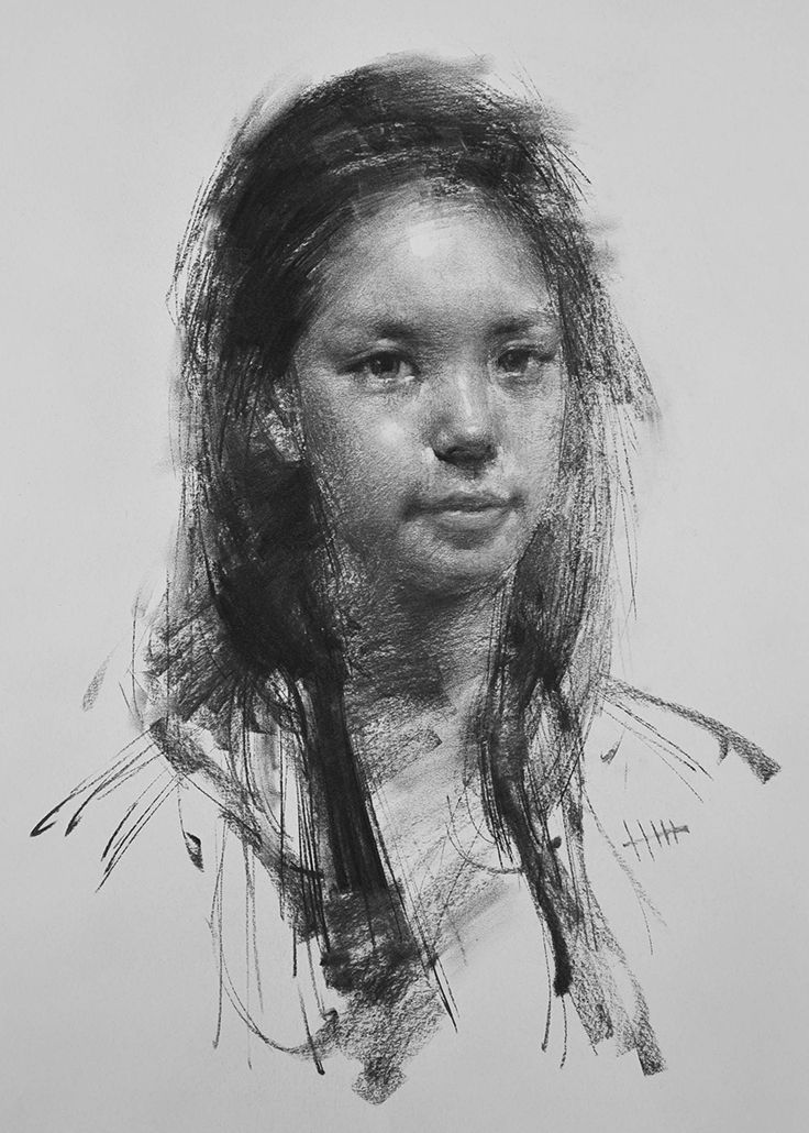 how to start drawing with charcoal portrait