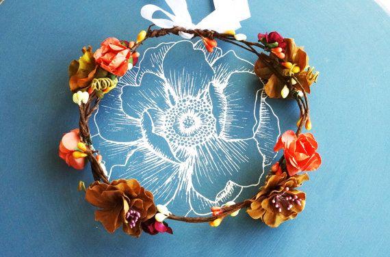 Posie's Pretties.  Silk  and paper flower crown. by PosieMeadows