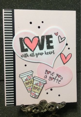 Handmade card by Lynda using the Love From Me digital set from Verve. #vervestamps