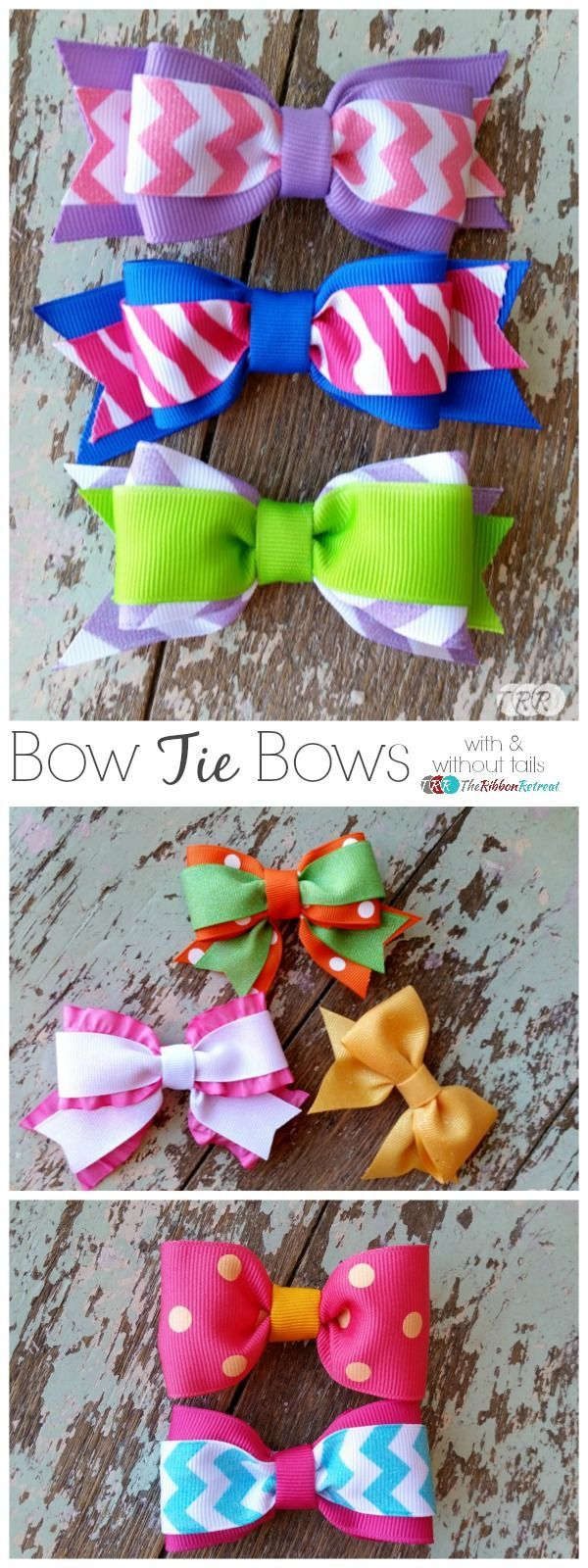 Bow Tie Bows...with and without tails - The Ribbon Retreat Blog: