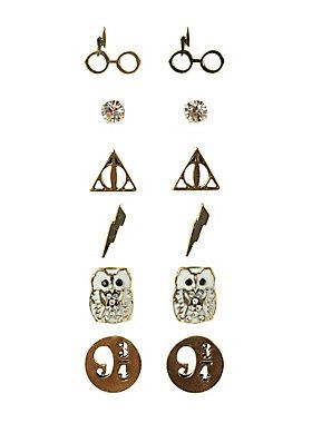 For your wizardry earlobes // Harry Potter Earrings 6 Pair Set
