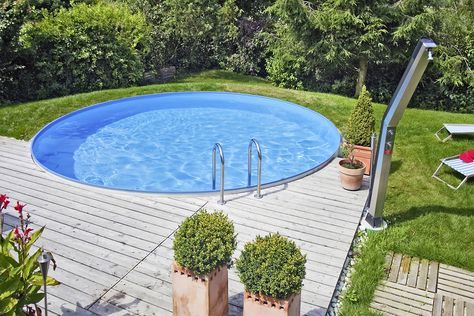 Rundpool Pool selber bauen Pool Ideen zum Schwimme…