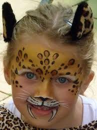 Image result for leopard face paint kids                                                                                                                                                                                 More