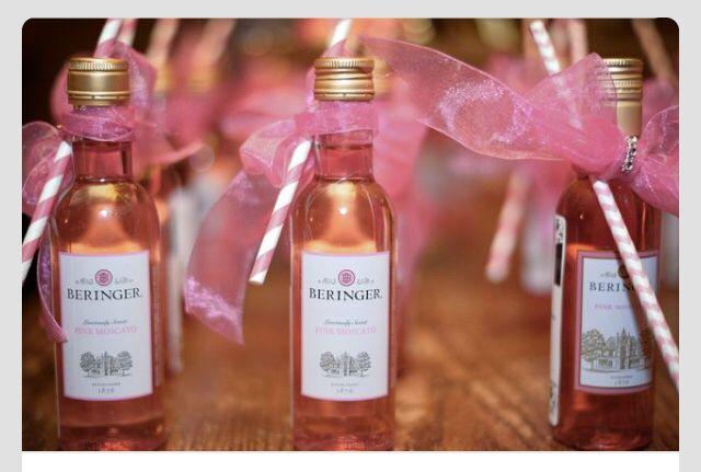 Rose wine & straws... :)