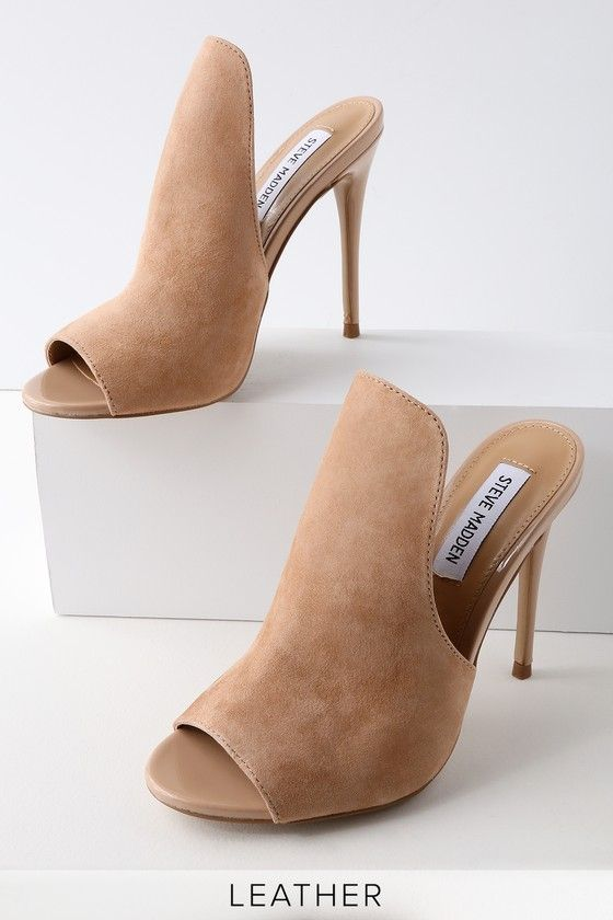 69408dd8096 Sinful Nude Suede Leather Peep-Toe Mules in 2019 | Walk in my Shoes ...