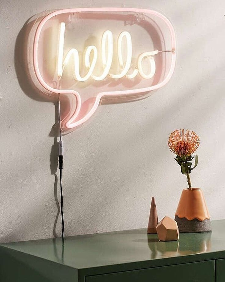 Hello All Lighting Is 15% Off Right Now! Shop The Hello Neon Sign,