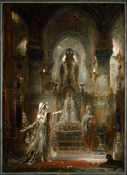 Gustave Moreau,  Salome Dancing before Herod, 1874-76 Oil on canvas; 56 1/2 x 41 1/16 in. (143.5 x 104.3 cm). The Armand Hammer Collection; Gift of the Armand Hammer Foundation, Hammer Museum, Los Angeles. Photo: Robert Wedemeyer.