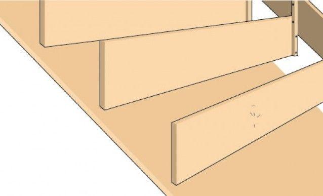 Escalier en béton : coffrage et armature