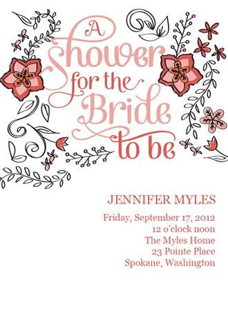 Persnickety Prints Bridal Shower invites