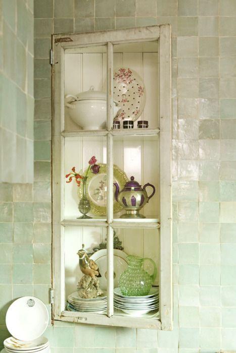 old window | water tile