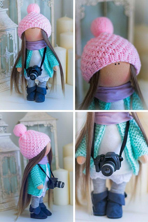 Decor muñeca arte muñeca hecha a mano colores por AnnKirillartPlace