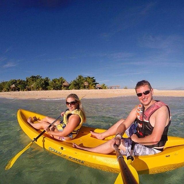 Kayaking fun #fiji #southseaisland #kayak #kayaking #ocean #watersport #vacation #holiday