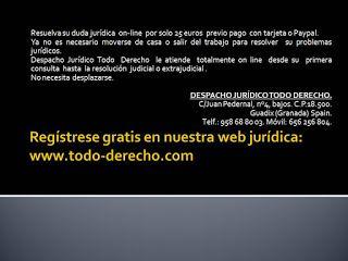 TODO-DERECHO DESPACHO JURÍDICO : Consulta jurídica on line por solo 25 Euros, tu Ab...