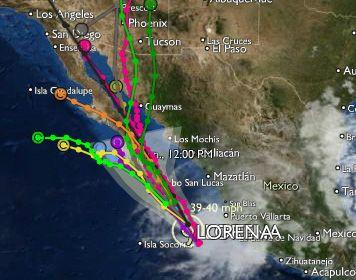 Clima del Pacifico: Alerta. Tormenta tropical Lorena amenaza a B.C.S. #BCSmx
