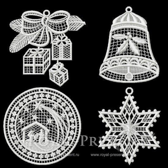 Hoop size 100x100 mm; Designs in the set: 4 Formats: .dst, .jef, .pec, .viр, .hus, .pes, .exp, .sew, .dat $3.25  You May Also Like  Christmas Motifs – Machine Embroidery Designsset &nb...