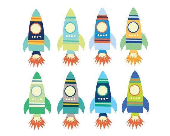 Digital Clipart For Boys Space Rocket Clip Art Teachers