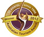 Should you need a little more convincing that we're the perfect spot for your holiday, our recent haul of big, prestigious awards should do the trick, starting with the holy grail of all awards – the 2012 Australian Tourism Award for Tourist & Caravan Parks. That one brought our total to 30 awards since 1996!