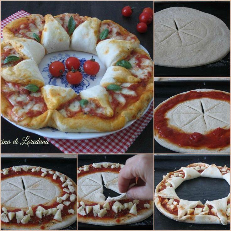 Una semplice ghirlanda di pizza natalizia!