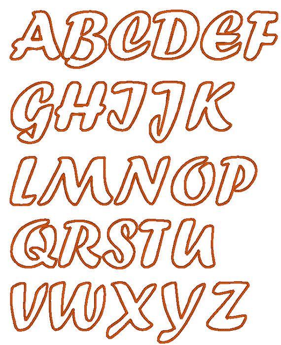 Handwriting Cute Font machine embroidery applique by artapli, $3.99