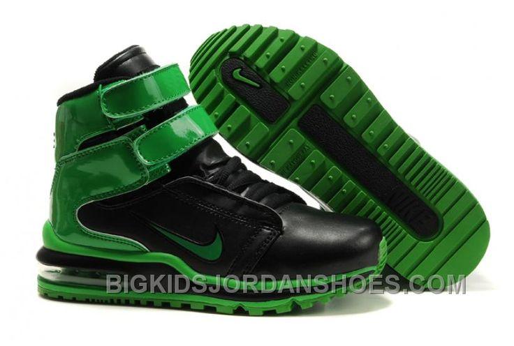 http://www.bigkidsjordanshoes.com/new-kids-nike-tk-society-air-max-black-green.html NEW KIDS NIKE TK SOCIETY AIR MAX BLACK GREEN Only $75.68 , Free Shipping!