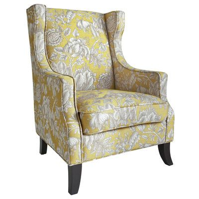 Alec Wing Chair - Gold Floral