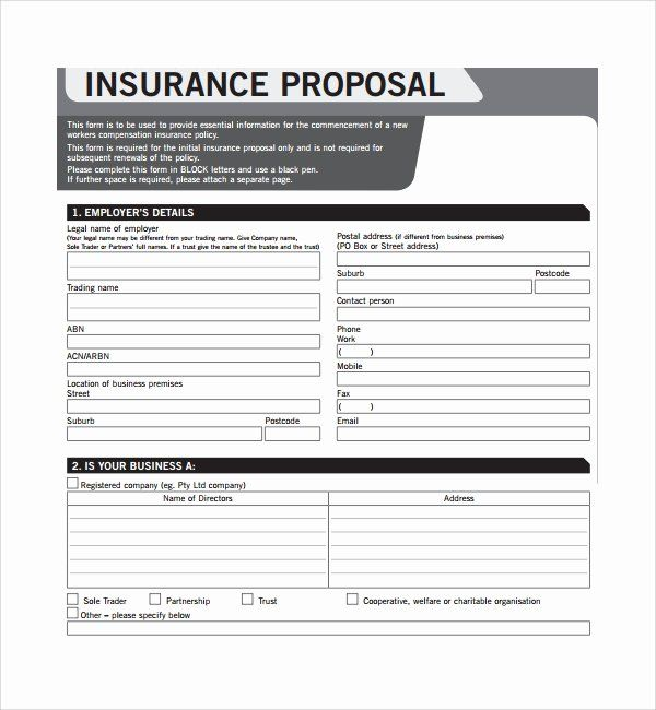 Commercial Insurance Proposal Template In 2020 Free Proposal