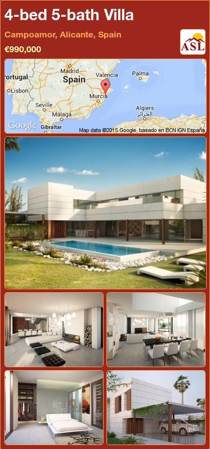 4-bed 5-bath Villa in Campoamor, Alicante, Spain ►€990,000 #PropertyForSaleInSpain
