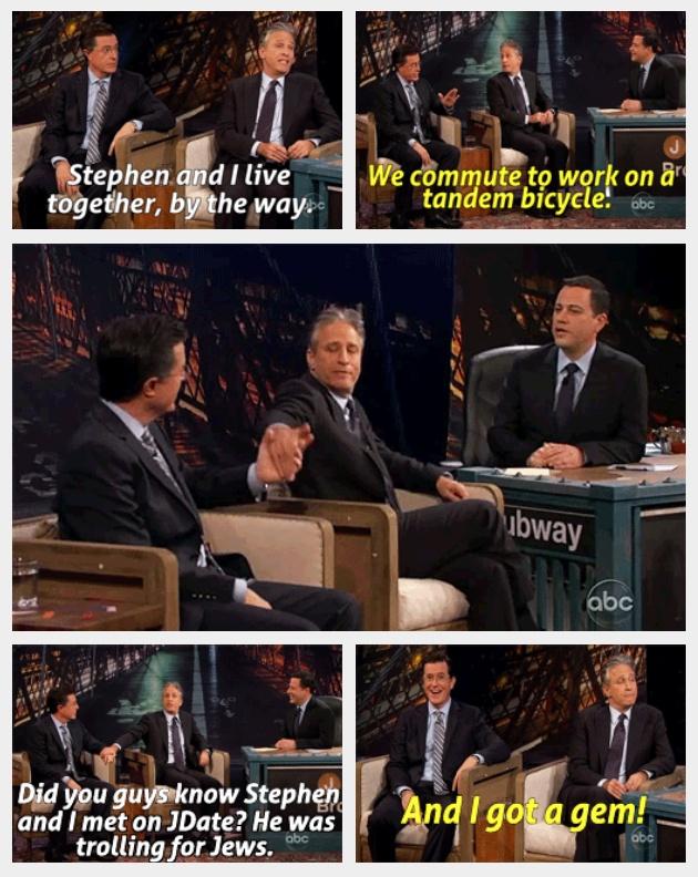 Stephen Colbert & John Stewart <3