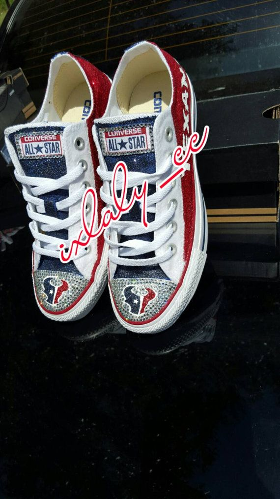 Custom Texans Chucks by IxlalysCC on Etsy