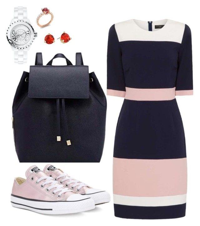 """""""Casual"""" by pitaa29 on Polyvore featuring Paper Dolls, Chanel, Barneys New York, Converse, Diamondere and Kate Spade"""