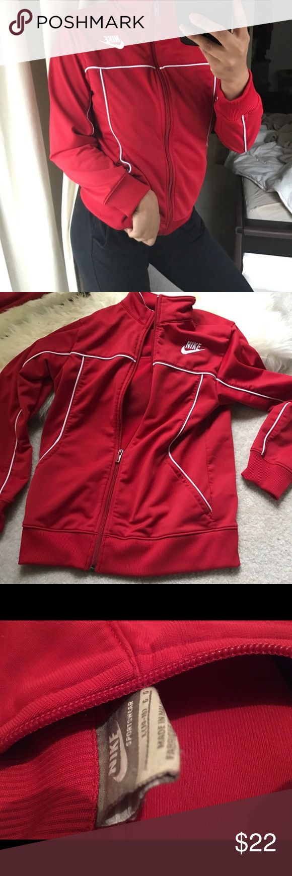❗️Today Only❗️ Red Nike Jacket Tag Says Size Large Nike Jackets & Coats