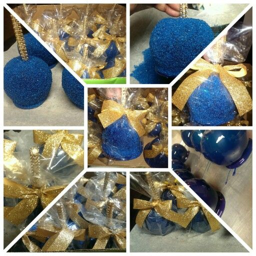 Royal Blue Candy Apples With Homemade Edible Sugar