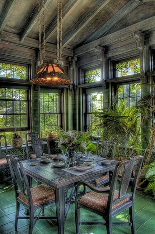 Captivating Garden Room In Glensheen Mansion, Duluth, MN.
